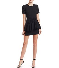 fontaine crepe peplum mini dress