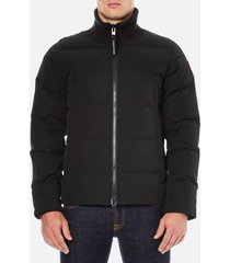 canada goose men's woolford jacket - black - s - black