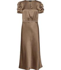 double silk - berenice dress knälång klänning brun sand