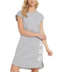 dkny logo-graphic t-shirt dress