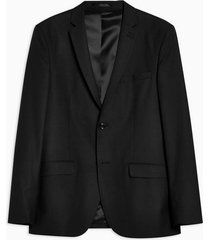 mens black slim fit single breasted suit blazer with notch lapels