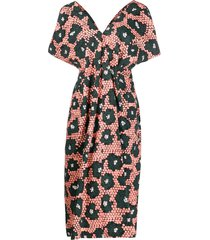 christian wijnants front gathered mid-length dress - orange