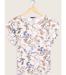 blusa con mangas tipo bolero cuello redondo estampada-xxl
