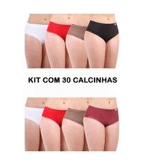 kit 30 calcinha isa lingerie calçola senhora multicor