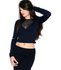 blusa up side wear decotada preta