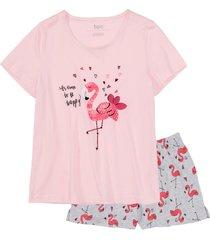 maglia: 100% cotone; pantaloni: 90% cotone, 10% poliestere (rosa) - bpc bonprix collection