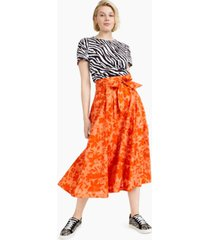 charter club cotton jungle-print midi skirt, created for macy's