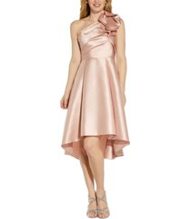 adrianna papell one-shoulder mikado dress