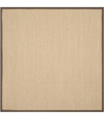 safavieh natural fiber maize and brown 6' x 6' sisal weave square area rug