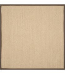 safavieh natural fiber maize and brown 6' x 6' sisal weave square rug