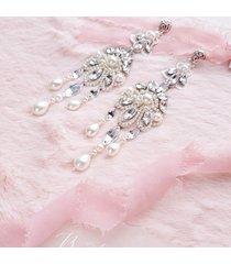 rosalia - długie, perłowe kolczyki ślubne
