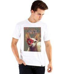 camiseta ouroboros cat skull masculina - masculino