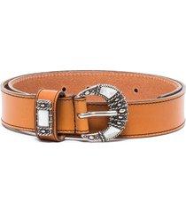 etro crescent buckle belt - brown