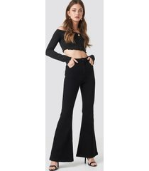 abrand a double oh flare jeans - black