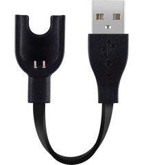 alambre de cobre puro core pulsera cargador usb para xiaomi mi banda 3 (negro)