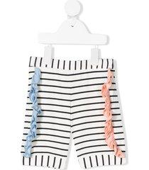 wauw capow by bangbang pop ruffled shorts - white
