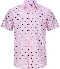 camisa lentes color rosado, talla xl