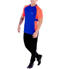 camiseta azul-naranja scopo