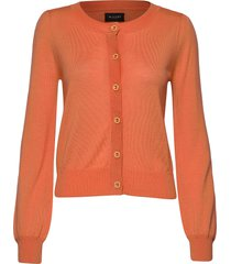 cool wool w - isamu stickad tröja cardigan orange sand