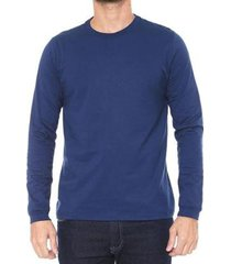 camiseta malwee manga longa com punho masculina - masculino