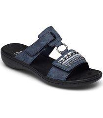 608p6-14 shoes summer shoes flat sandals blå rieker
