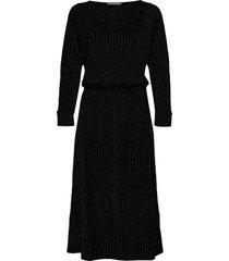 dhkick batsleeve dress knälång klänning svart denim hunter