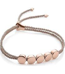 monica vinader engravable linear bead friendship bracelet in rose gold metallic at nordstrom