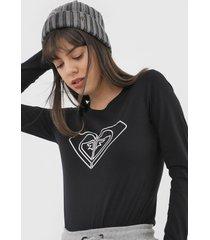 camiseta roxy with you could preta - preto - feminino - dafiti