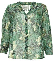 blouse met bloemenprint quincy  groen