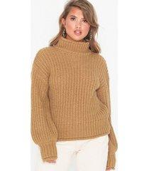nly trend chunky turtleneck sweater stickade tröjor
