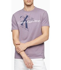 calvin klein men's oversized tilt monogram logo t-shirt