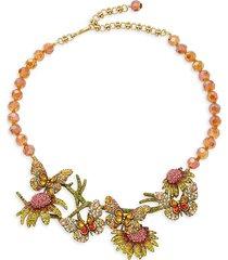 heidi daus women's goldtone & multicolored crystal necklace