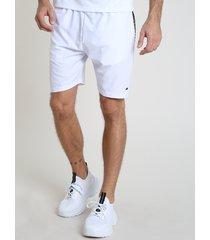 bermuda masculina esportiva ace com estampa branca