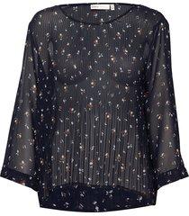 ryanniw blouse blouse lange mouwen blauw inwear