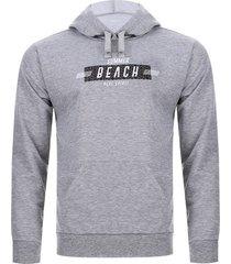 buzo capota beach color gris, talla s