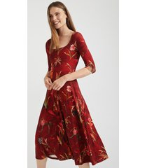 low-necked dress flounce - red - xl