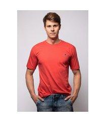 camiseta pau a pique básica coral