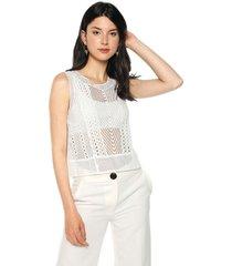 blusa blanca mng