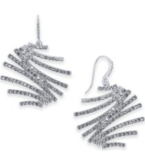 inc crystal zig-zag drop earrings, created for macy's