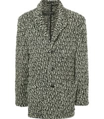 comme des garçons pre-owned textured chunky-knit cardigan - black