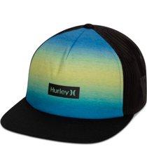 hurley men's printed square trucker hat
