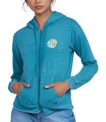 roxy juniors' moon rising zip-up hoodie