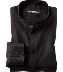 overhemd elverum uit biologisch katoen, zwart 41/42