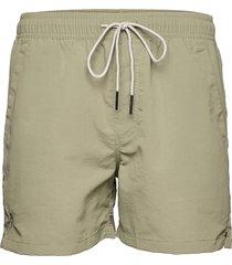 green nylon swim shorts badshorts grön oas