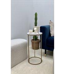 betty - złoty okrągły stolik pomocniczy
