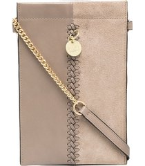 see by chloé tilda phone crossbody bag - grey