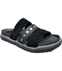 sandalia negra omm maui