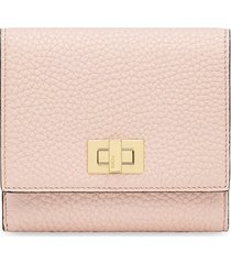 fendi textured peekaboo wallet - pink