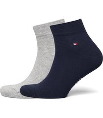 th men quarter 2p underwear socks regular socks grå tommy hilfiger