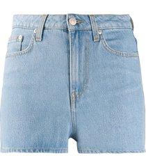 chiara ferragni fitted denim shorts - blue